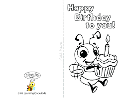 coloring pages happy birthday cards to color happy birthday