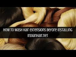 Wash Hair Before Color - wash instruction before installing your hair extensions youtube