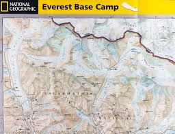 Where Is Nepal On The Map Map Of The Mount Everest Base Camp Nepal National Geographic