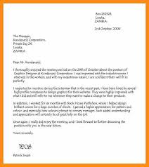 13 thank you letter job interview abstract sample
