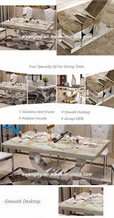 smart expo modern dining room furniture marble top stainless product detail
