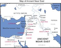 Middle Eastern Map Map Of The Ancient Near East Bible History Online