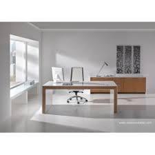 bureau chene clair de direction belesa finition laqué blanc et chêne clair