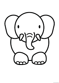 coloring pages of animals that migrate cartoon elephant coloring pages cute elephant coloring pages plus