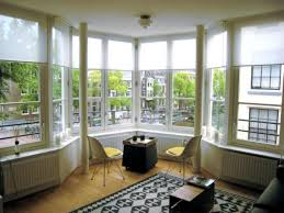 how to decorate your large bay window with low budget without arched bay window design with large glass material and window nook with white ceiling and beige