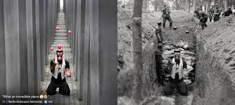 The History Guy The Second by Artist Shames Disrespectful Holocaust Memorial Tourists Using