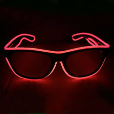 el wire fashion neon led light up shutter shades festival gear