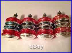 box 12 corning premier glass works wwii era ornaments ringed