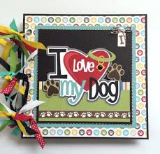 dog photo albums artsy albums dog diy or premade mini album kit pre cut with