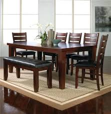 Dining Room Table Bench Set by Black Leather Dining Chair Canada Black Dining Table With Bench