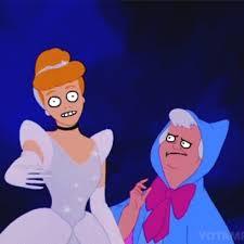Cinderella Meme - cinderella twirls around while her fairy god mother watches with
