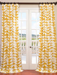 Cotton Curtains And Drapes Buy Triad Gold Printed Cotton Twill Curtain U0026 Drapes