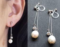 non pierced earrings clip on earrings etsy nz