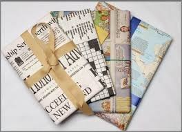 newspaper wrapping paper frugal green gift wrapping ideas homemaking