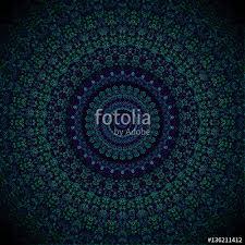 Blau Schwarz Muster Hintergrund Mandala Blau Schwarz T禺rkis Meditation Hypnose