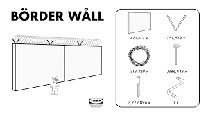 Ikea Blind Instructions Ikea Börder Wåll Provides Trump With Affordable Construction Option