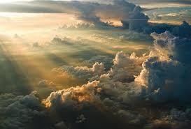 wallpaper clouds sun rays sky desktop wallpaper