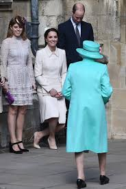 kate middleton attends easter sunday service in windsor daily