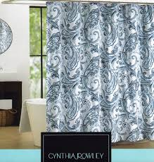 Blue Paisley Curtains Brown And Blue Paisley Shower Curtain Shower Curtain Design