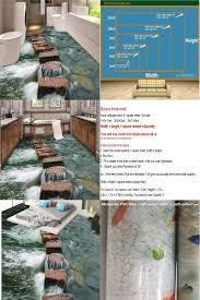 visit to buy custom photo floor 3d wallpaper modern art river