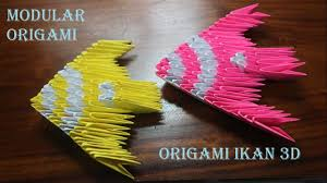 cara membuat origami hello kitty 3d cara membuat origami ikan 3d dengan mudah youtube