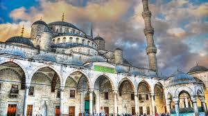 islamische architektur hintergrundbilder stadtbild die architektur wolken istanbul