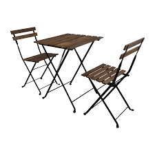 Ikea Teak Patio Furniture - 46 off ikea ikea tarno folding table and two folding chairs