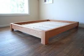 Build Bed Frame With Storage Simple Bed Frame Wood Plans West Elm King Size