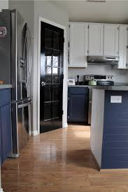 navy blue and grey kitchen cabinets navy painted base cabinets chris