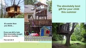 simple treehouse ideas youtube