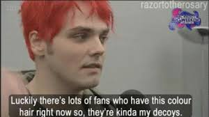 Gerard Way Memes - my chemical romance gerard way with red hair gif find share on giphy