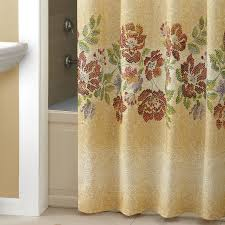 Brown Ruffle Shower Curtain by Croscill Yosemite Shower Curtain Shower Curtain Rod