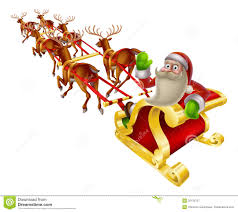 sleigh clipart father christmas sleigh pencil and in color