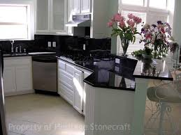 Black Galaxy Granite Countertop Kitchen Traditional With by Kitchen White Kitchen Cabinets With Black Granite Countertops