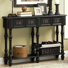 Accent Console Table Black Sofa Table With Shelves Black Entryway Table With Storage