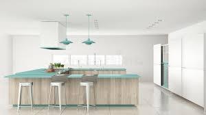 mi bois cuisine cuisine blanche de minimalistic avec les détails en bois et de