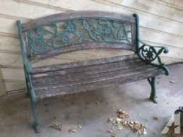 Antique Cast Iron Garden Benches For Sale by Metal Park Benches For Sale Foter