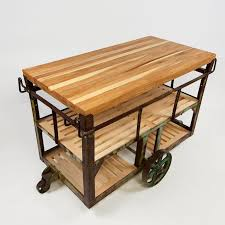 industrial iron wood kitchen trolley natural black buy kitchen buy a handmade kitchen island cart made to order from idea custom