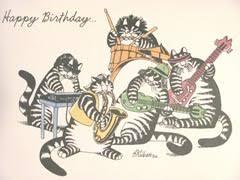 elaine s creative works giveaway a 5 x 7 kliban cat birthday card