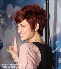 short hairstyles with fringe sideburns lacey brown s short hair with choppy and slithered ends and heavy