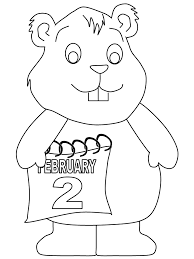 awesome groundhog coloring 83 download coloring pages