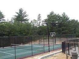 Backyard Tennis Court Cost Cost To Build A Tennis Court Sport Court Of Massachusetts