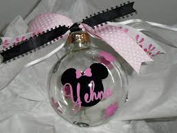 personalized minnie mouse ornament 9 00 via etsy