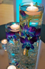 blue centerpieces picture of a prototype of our blue orchid centerpieces