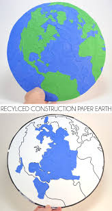 recycled construction paper earth dream a little bigger