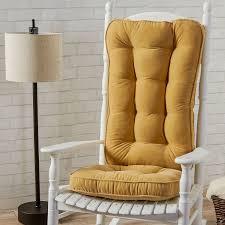 White Rocking Chair Cushion Jumbo Rocking Chair Cushion Set Hyatt Fabric Cream Walmart Com