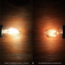 C7 Led Light Bulbs by Crlight 1w Led Filament C7 Night Light Bulb 2700k Warm White