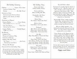 sle of wedding program catholic wedding ceremony program template wedding