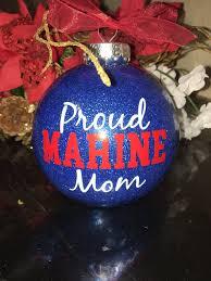 proud marine mom christmas ornament bulb tree decor gift usa