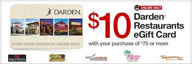 e gift cards restaurants darden restaurants egift card with 75 purchase at office depot
